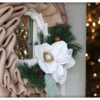 Fancy Burlap Wreath…..on the cheap