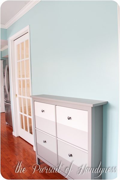ikea hemnes shoe cabinet hack. Black Bedroom Furniture Sets. Home Design Ideas