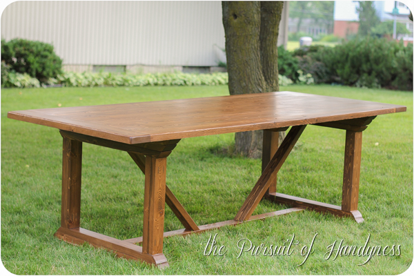 My Z Gallerie Inspired Outdoor Dining Table
