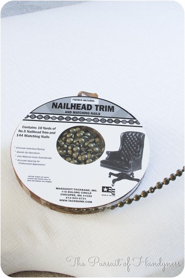 French Natural Nailhead Trim