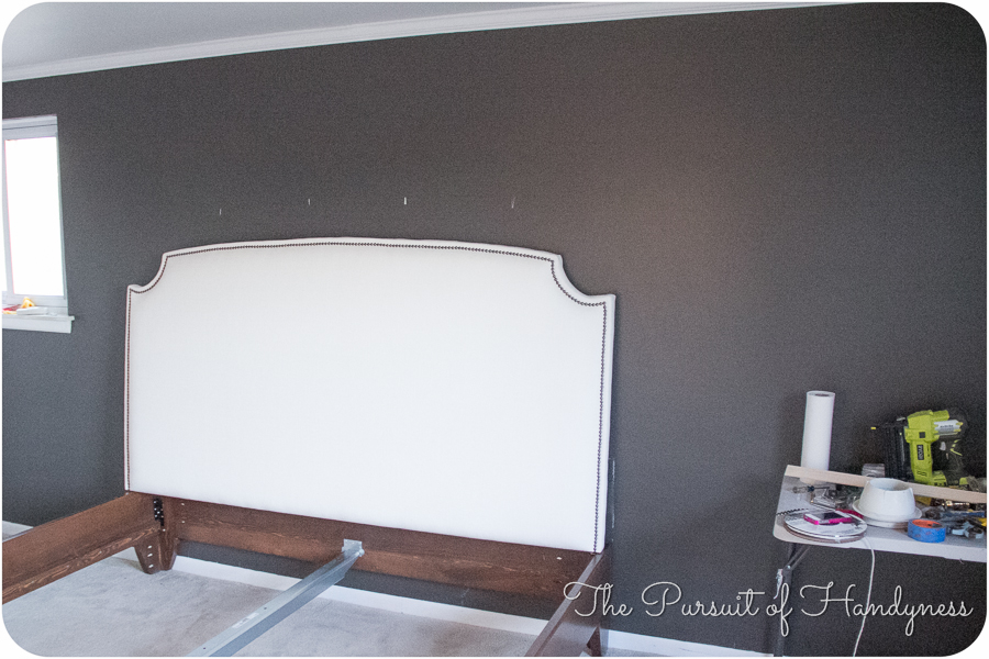 king upholstered headboard diy 1