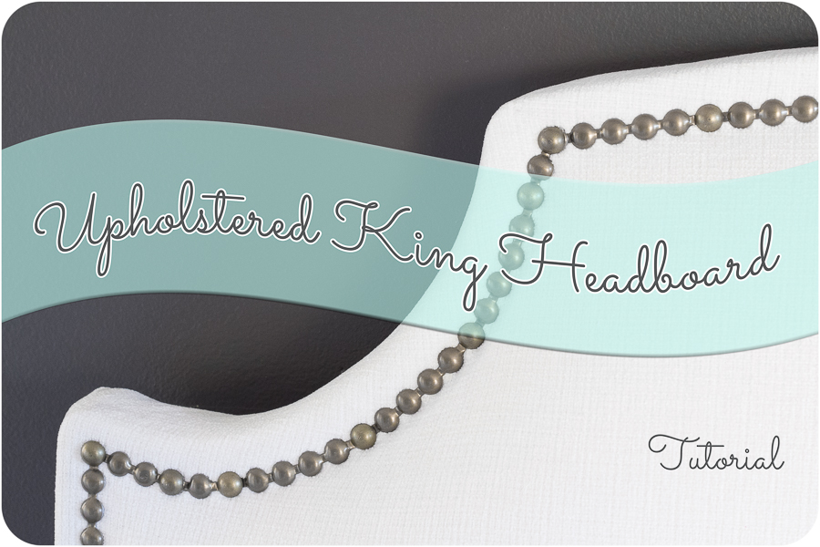 Diy Upholstered King Headboard With Nailhead Trim 1 Of 7