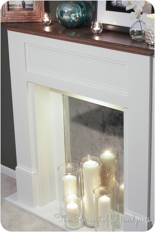 Diy Faux Fireplace -34
