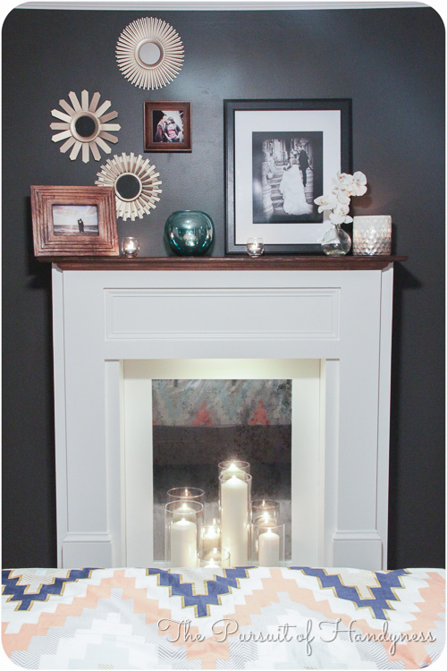 Diy faux fireplace step by step tutorial and a reveal.