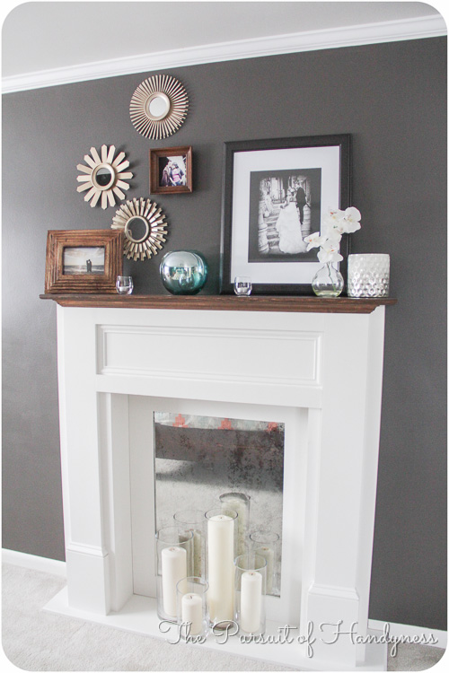 Diy Faux Fireplace -38
