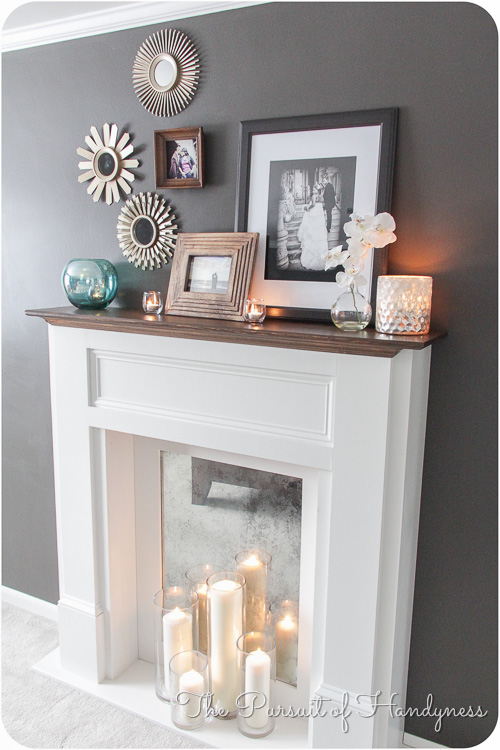 diy faux fireplace. Black Bedroom Furniture Sets. Home Design Ideas