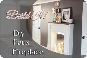 Diy Faux Fireplace Feature-1