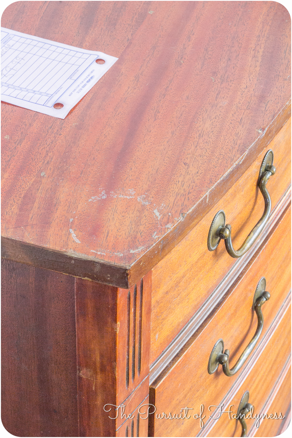 Refinished Bow Front Chest-1