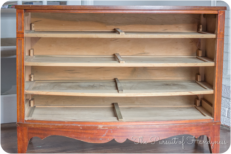 Refinished Bow Front Chest-10