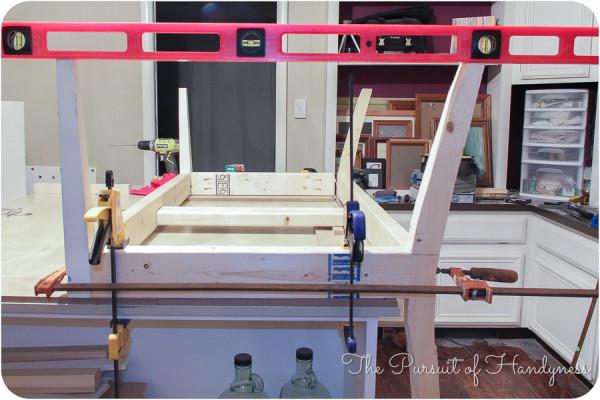 DIY Upholstered Settee-15