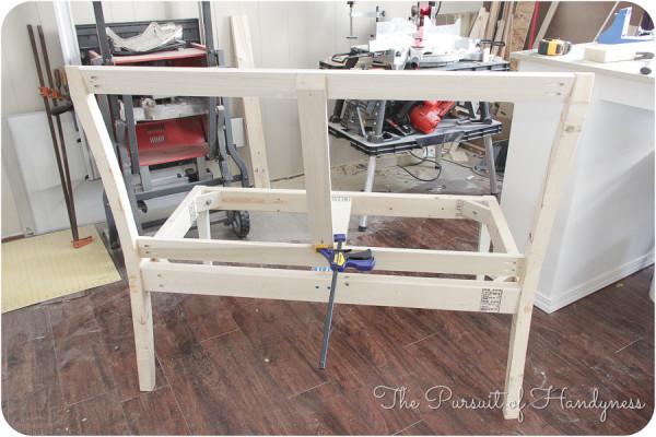 DIY Upholstered Settee-20