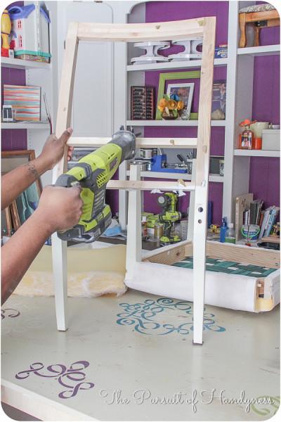 DIY Upholstered Settee-4