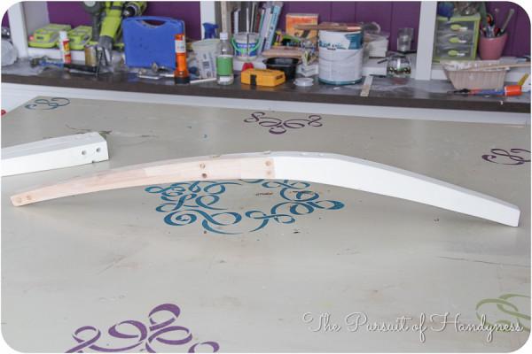 DIY Upholstered Settee-6