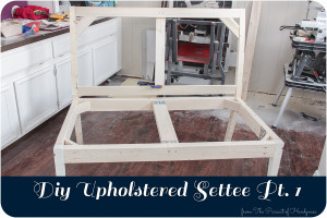 DIY Upholstered Settee Feature