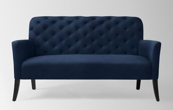 Elton Settee Performance Velvet Ink Blue