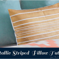 Diy Striped Pillow that didn't make the cut