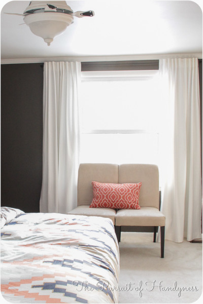Image of how settee would look in front of window