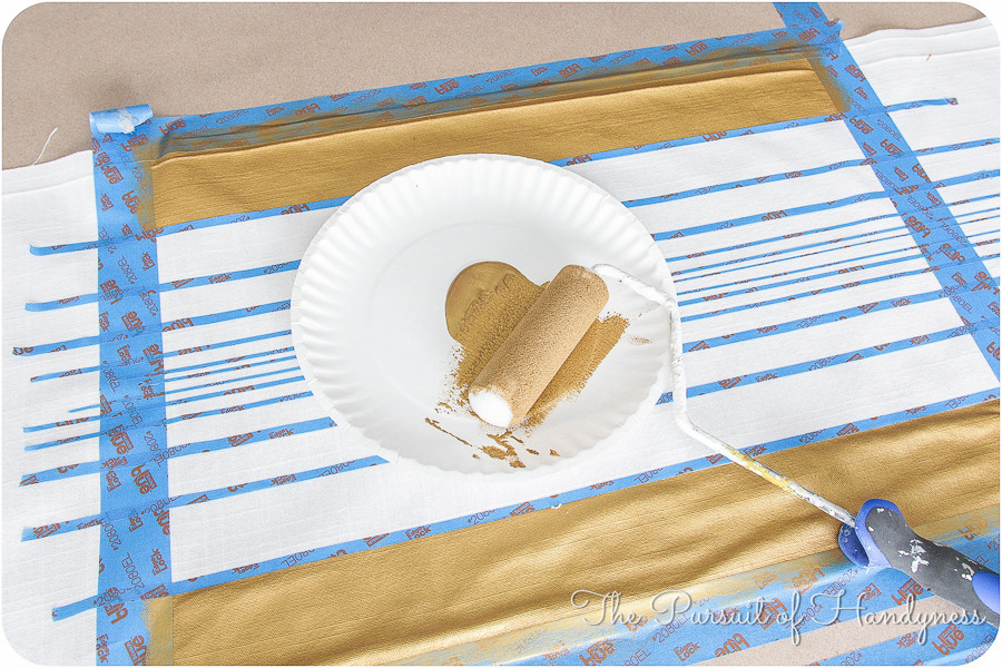 Painted Striped Pillow Tutorial-13