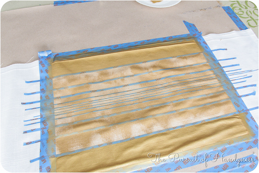 Painted Striped Pillow Tutorial-14