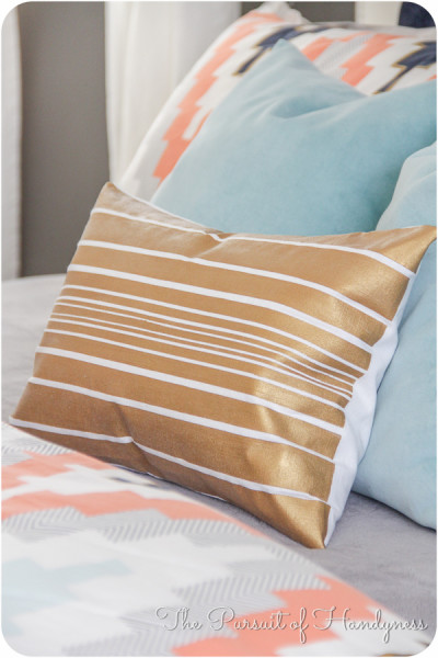Painted Striped Pillow Tutorial