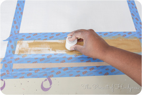 Painted Striped Pillow Tutorial-7