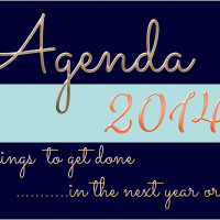 Agenda-Things to get done in the next year.