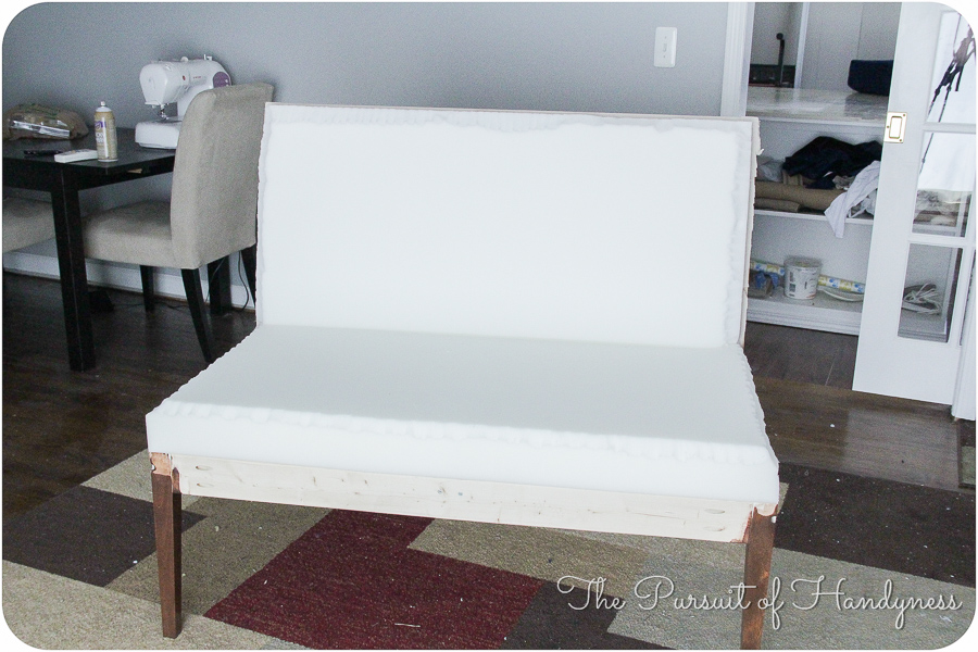 Diy Upholstered Settee Pt. 2-26