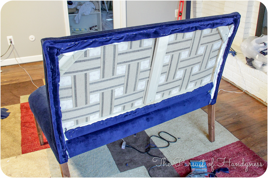 Diy Upholstered Settee Pt. 2-30