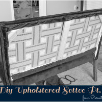 Diy Upholstered Settee Pt. 2