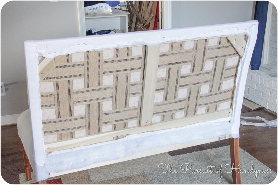 Diy Upholstered Settee Pt. 2-9