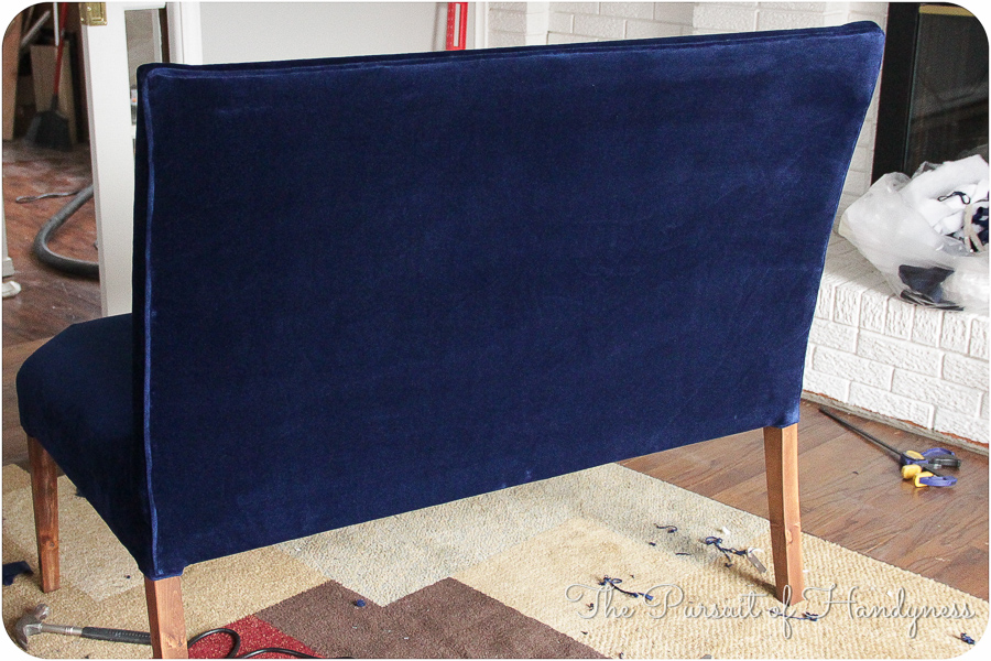 Diy Upholstered Settee Pt. 3 -11
