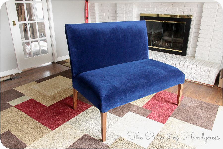 Diy Upholstered Settee Pt. 3 -12