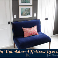 Diy Upholstered Settee Reveal Pt. 3
