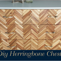 Diy Herringbone Chest Reveal