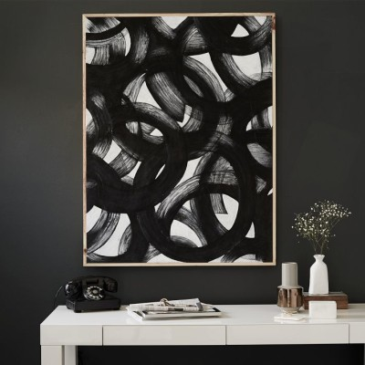 Brushstroke Swirls Wall Art