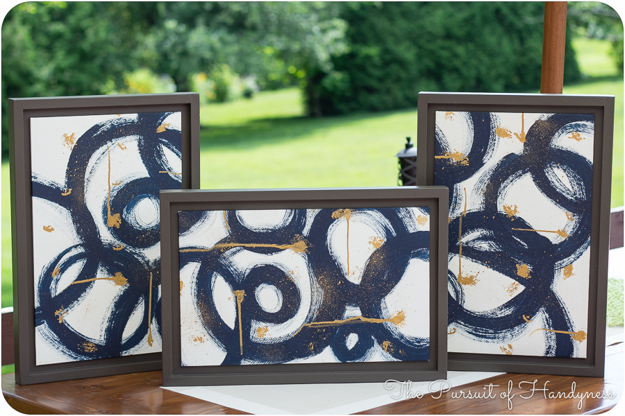 Diy Triptych Art w/ Custom Frames
