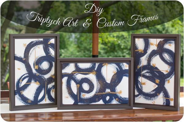 Diy Triptych Art w/ Custom Frames