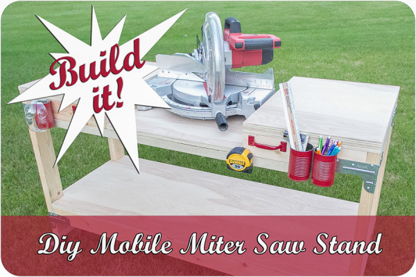 Diy Mobile Miter Saw Stand +Giveaway!