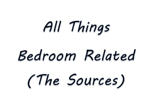 All Things Bedroom Related Sources