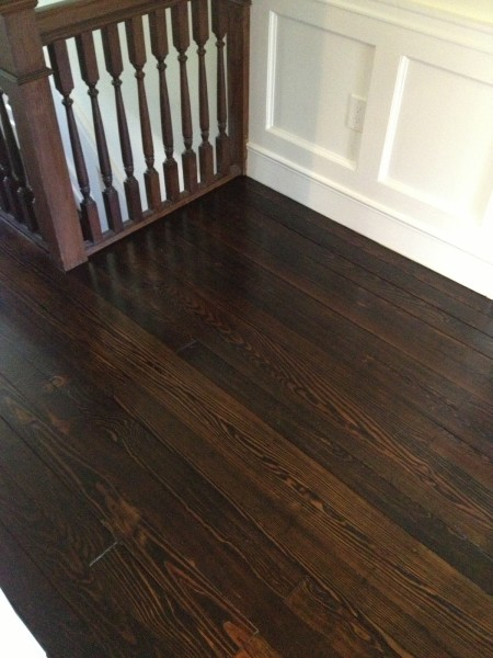 Dark stained floors