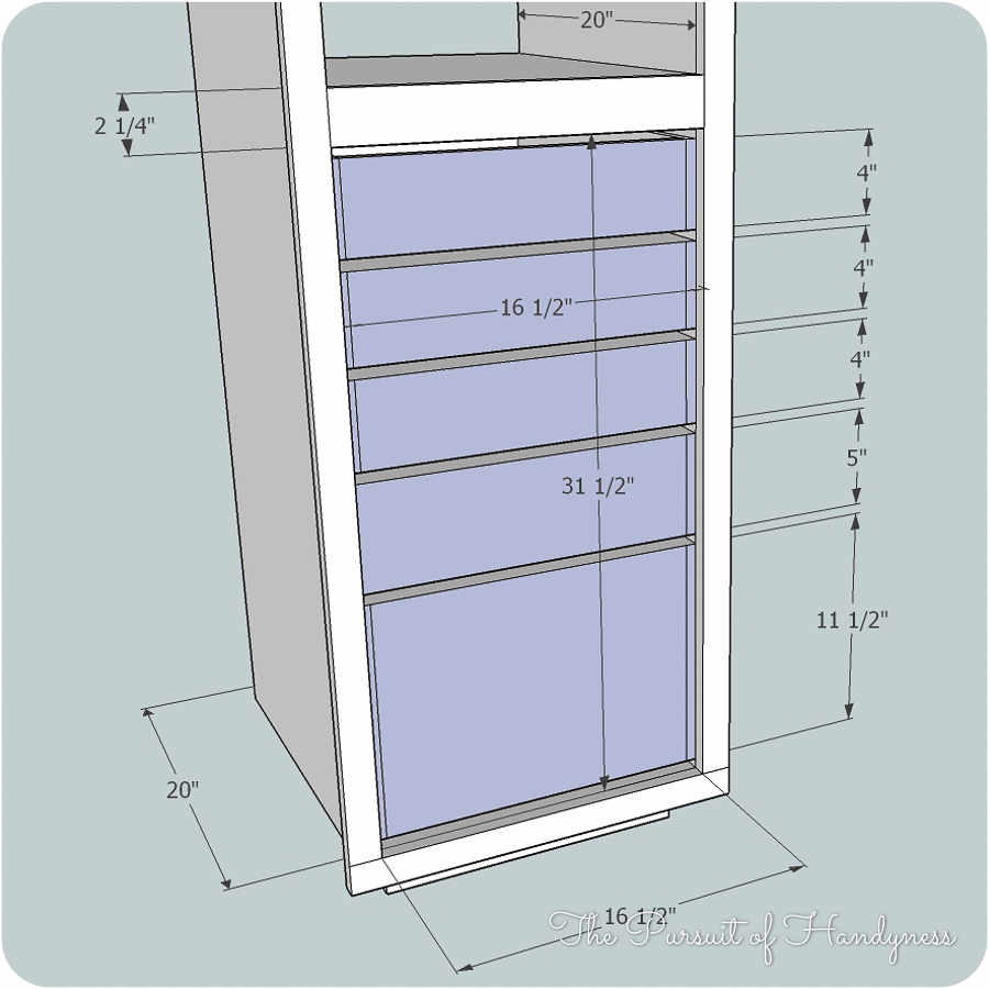 diy bathroom linen cabinet0012