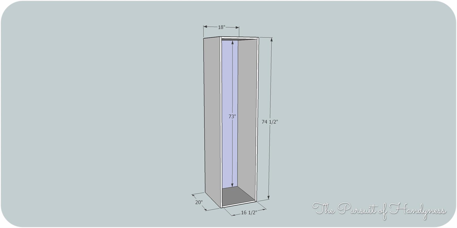 building again linen cabinet
