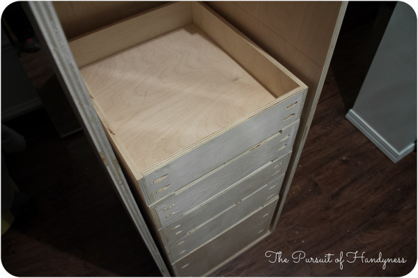 linen cabinet with
