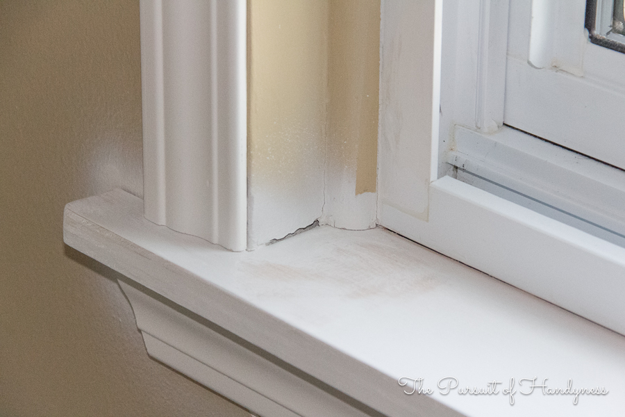 Diy window sill and trim my recent project for How to paint wood windows interior