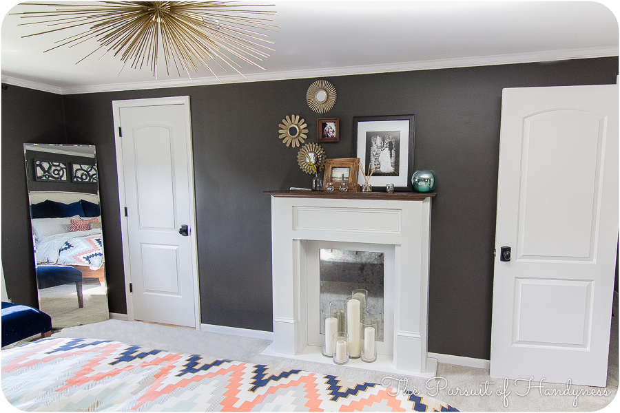 Master Bedroom Reveal The Faux Fireplace Mantle
